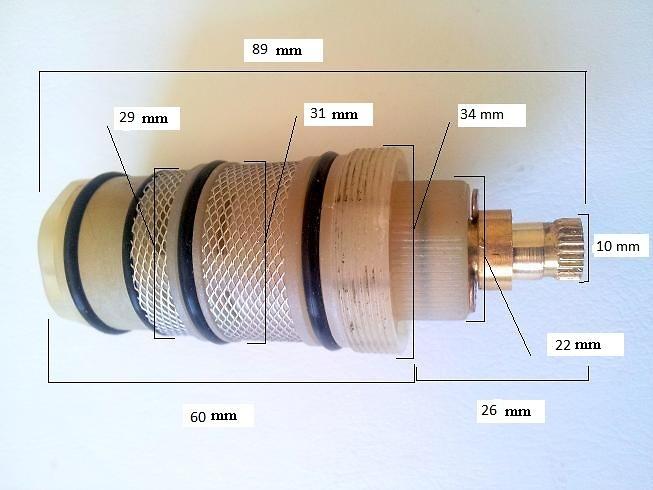 Cartucho termostático de latón