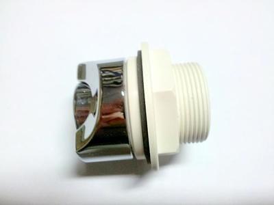 Pulsador neumático redondon latón cromado