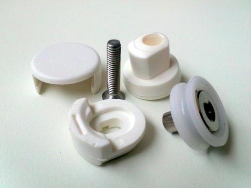 Rodamiento exc ntrico semicircular 19x6 2 unidades for Rodamientos para mamparas