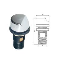 Regulador de aire redondo en latón cromado