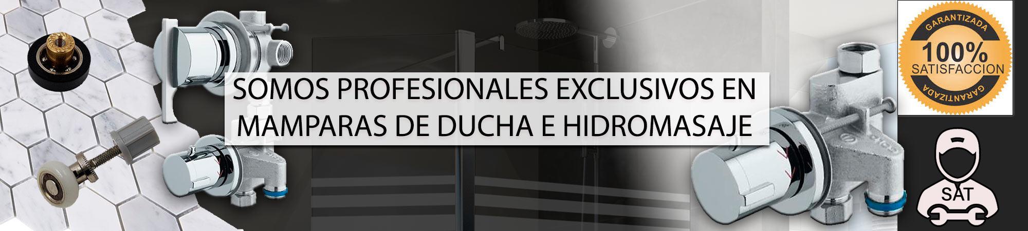 Somos profesionales exclusivos en mamparas de ducha e hidromasaje
