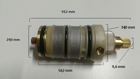 Cartucho termostático cotas 1366