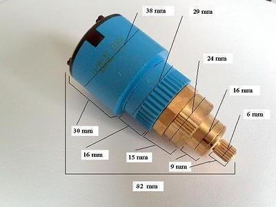 Cartucho termostático cotas 0280