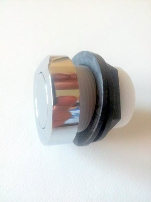 Pulsador neumático Cromado ABS.