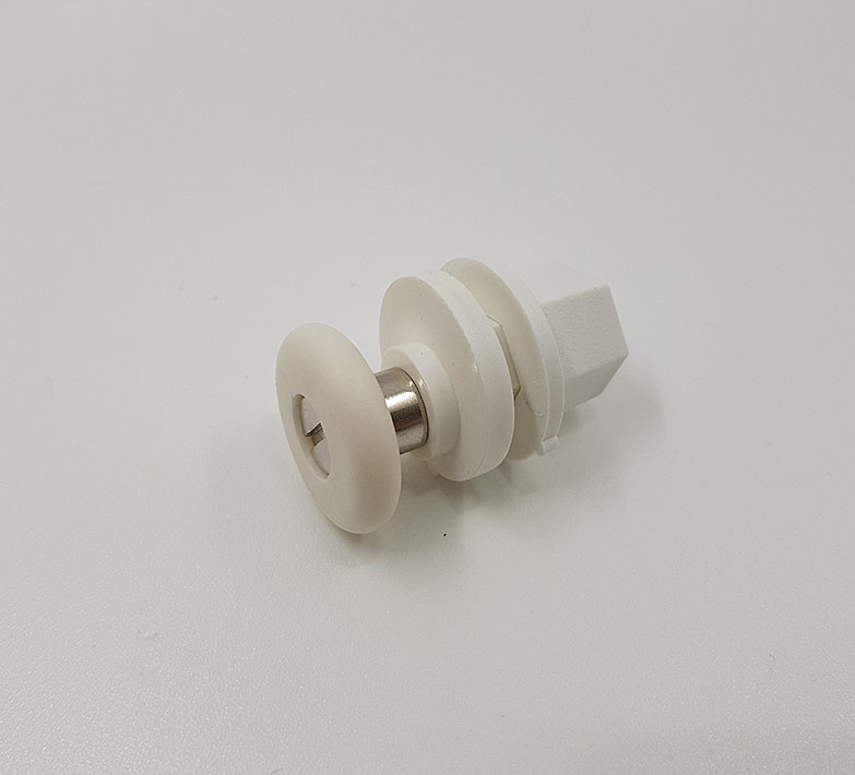 Rodamientos mamparas Excéntrico 24x6 Blanco ref 136