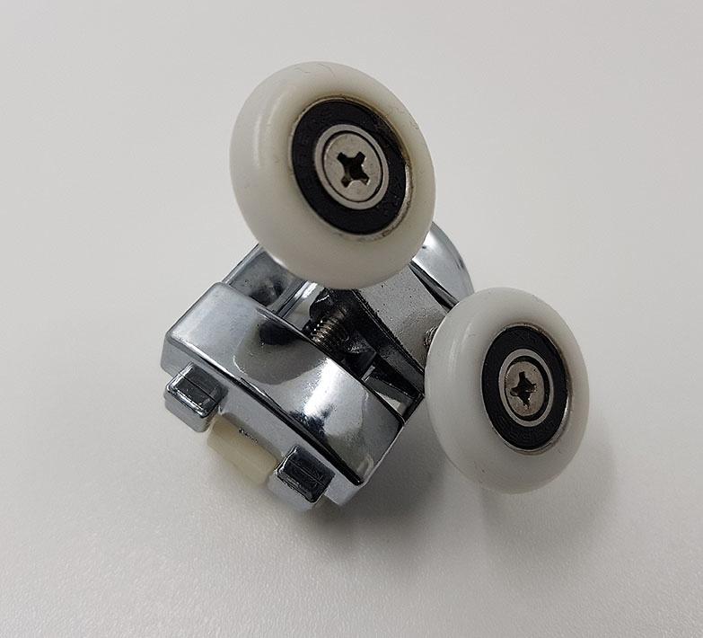 Rodamiento mamparas Doble Cromado 23x6 Regulable ref 161_3
