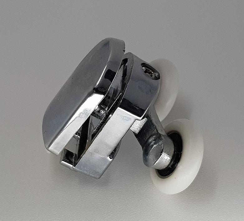 Rodamiento mamparas Doble Cromado 23x6 Regulable ref 161_2