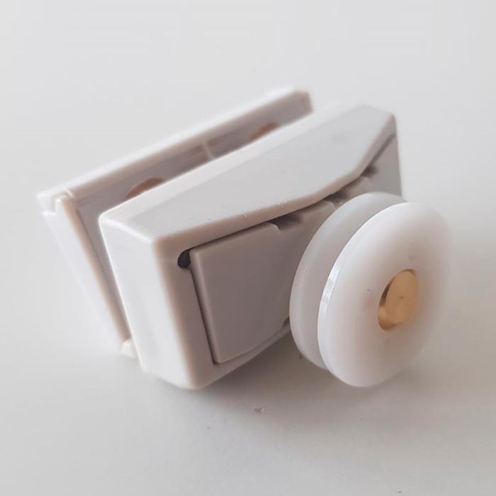 Rodamiento guía con soporte para mamparas de Huppe