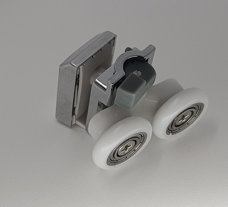 Rodamiento doble con soporte para mamparas de Metalkris y Leroy Merlyn ref 158