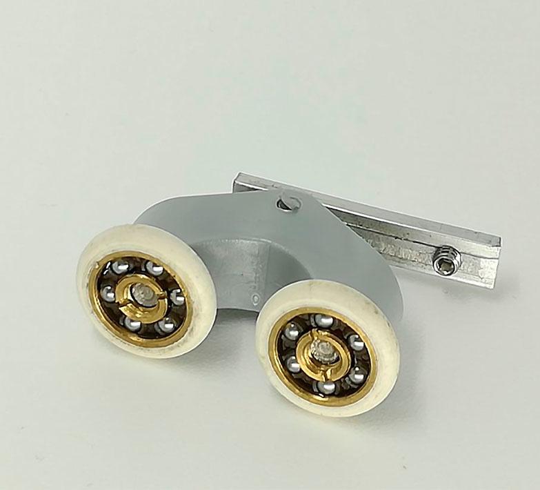 Rodamiento mamparas doble con soporte articulado 20x5 ref 157_3