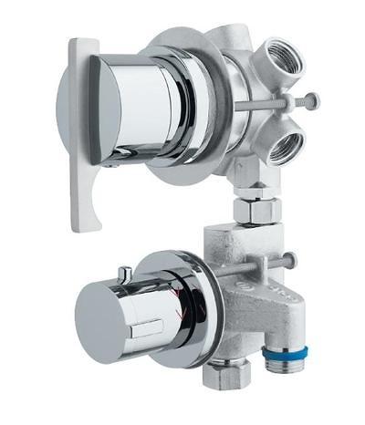Termostática con desviador de 5 vías. ( 2 griferías individuales)