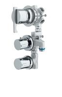 Grifo hidromasaje con 3 llaves, termostática, corte y 5 vías.