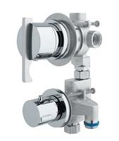 Grifo hidromasaje termostático con desviador de 3 vías ( 2 griferías individuales )
