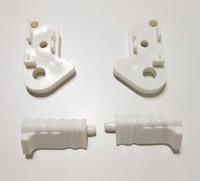 Soportes para barra frontal de 3 puertas correderas